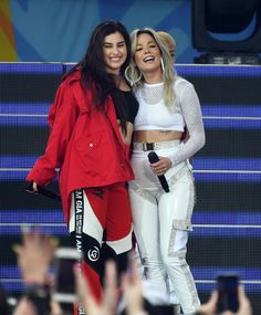 Lauren Jauregui and Halsey performs on ABC's 'Good Morning America' at Rumsey Playfield, Central Park on June 2018 in New York City Halsey, Fifth Harmony Lauren, Perfect Together, Hello Beautiful, Beautiful People, Woman Crush, Powerful Women, Me As A Girlfriend, Role Models