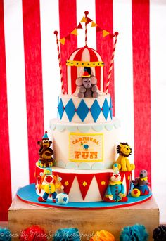 Carnival Cake by Studio Cake for Little Big company and Inspired Occasion Carnival of Fun