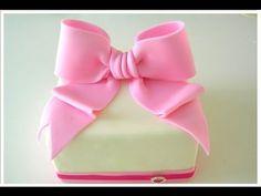 Tutoria fiocco in pasta di zucchero , How to Make a Fondant Bow cake decorating