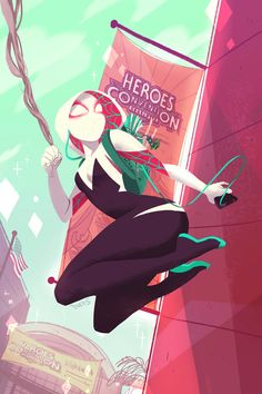 Spidergwen HeroesCon Exclusive by BabsDraws on Etsy