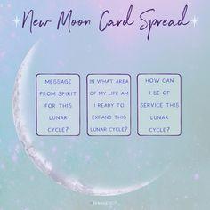 new moon card spread // new moon tarot spread // new moon oracle spread // new moon rituals