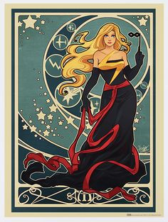 Ms. Marvel: | Marvel Heroines In Art Nouveau Gowns Never Looked So Stylish