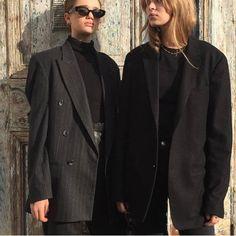 oversized blazers, all black, black jeans Fashion Killa, Look Fashion, Daily Fashion, Winter Fashion, Fashion Outfits, Womens Fashion, Fashion Design, Street Fashion, Fashion Shoes