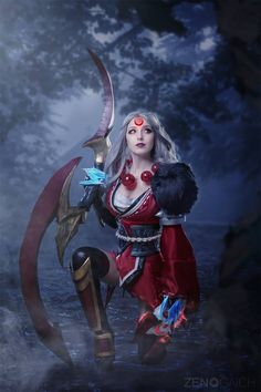 ANISSA COSPLAY - Bloodmoon Diana!  I will have a Video Tutorial for the Weapon for my Patrons this Month!  Character: Diana from League of Legends  Costume/Weapon made by me  Photo by ZENO