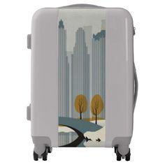Modern City Illustration luggage.