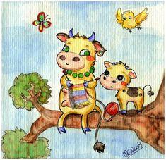 Funny Cute Cows by =yuki-the-vampire on deviantART