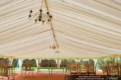 Ardington House marquee fairy light canopy by day