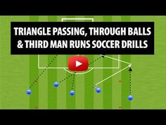 Triangle Passing, Third Man Runs And Moving Off The Ball Soccer Drills - YouTube