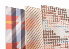 Patricia Urquiola adds grid-based patterns to architectural glass.