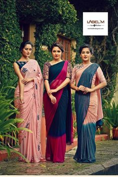 Simple sarees, elegant blouses Indian Sarees Click visit link above to read Simple Sarees, Trendy Sarees, Fancy Sarees, Indian Attire, Indian Ethnic Wear, Ethnic Style, Indian Style, Saris, Indian Dresses