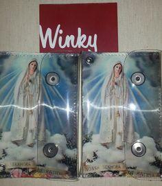 Vintage 2-Snap 3-D Vinyl Wallet // Virgin Mary // 2 snap flap wallet // billfold // Made in USA by Winky&Dutch