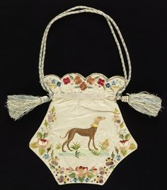 Purse (France), 1820–40 || Imagine young women with such skill at embroidery!