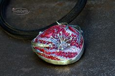 Polymer clay necklace by Iva Bro.