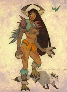 Disney princesses and other lead female characters as Final Fantasy X-2 classes    Pocahontas as a Berserker