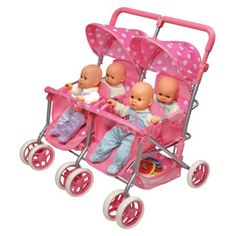 A quad baby stroller! Gigi would LOVE this! She is all about her babies!