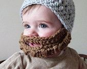 PDF Pattern for Crochet Bearded Beanie / Beard is Detachable by KraftyShack on Etsy, $4.99 USD