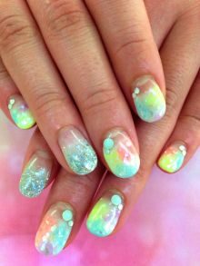 Mermaid Electric Nails. Well that can't be easy.