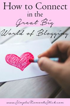 Great ideas for ways to connect with other bloggers