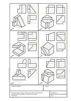 Geometric Drawing, Geometric Graphic, Interesting Drawings, Cool Drawings, Sketching Tips, Drawing Tips, Cad Drawing, Life Drawing, Isometric Drawing Exercises