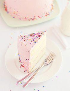 ~ Pink Vanilla & Sprinkles Birthday Cake ~