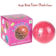 3D Magic Maze Puzzle Ball - Cube Globe Sphere Bulk Labyrinth Game Toys Learning Education Puzzle Toys Gifts for Kids Adults Holiday Birthday Xmas Cyber Monday Deals Week * Read more reviews of the product by visiting the link on the image.(It is Amazon affiliate link) #KidsSportGame