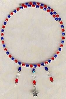 IDEA: Red, White and Blue Patriotic Necklace (eebeads.com)  - maybe orange & blue with a gator charm?