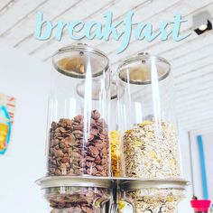 A triple tower full of cereal you can pour over your milk or (greek, of course) yogurt gets set up every morning at our breakfast, to fill you up with energy for a full time on the glorious Halkidiki beaches!  Τρεις πύργοι δημητριακών στήνονται κάθε μέρα στον μπουφέ του πρωινού, για να τα προσθέσετε γάλα σας και να σας δώσουν την ενέργεια που θα χρειαστείτε για μια γεμάτη ημέρα εξερευνήσεων στις παραλίες της Χαλκιδικής. Cereal, Breakfast, Food, Morning Coffee, Essen, Meals, Yemek, Breakfast Cereal, Corn Flakes