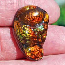 Fire Agate Gem AAA Quality from Slaughter Mountain Arizona  27.21 ct.