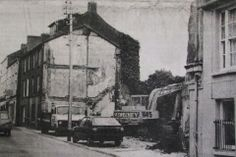 The demolition of buildings on Douglas Street in 1986 where St John's Mews would later be constructed. Image from the Evening Echo. Cork City Ireland, St John's, Old Photos, Buildings, Construction, Street, Image, Painting, Old Pictures