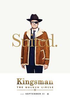 Colin Firth, Taron Egerton Suit Up in 'Kingsman: The Golden Circle' Comic-Con Posters Watch Kingsman, Kingsman Movie, San Diego Comic Con, Circle Movie, Pugs, Kingsman The Golden Circle, Kingsman The Secret Service, Matthew Vaughn, Cinema