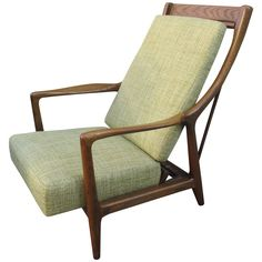 Danish Adjustable Recliner | From a unique collection of antique and modern lounge chairs at https://www.1stdibs.com/furniture/seating/lounge-chairs/