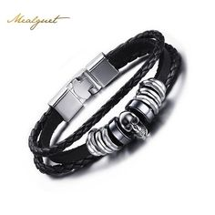 Jewelry & Accessories Bracelets & Bangles New Jewelry Punk Men Bracelet For Women Charm Bracelet 12 Constellation Zodiac Sign Black Braided Leather Bracelet Virgo Libra Yet Not Vulgar