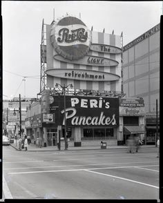 Downtown Peri's Pancake's facing Government Sq.  1968