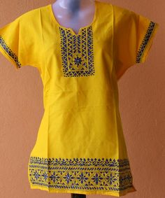 Kantha embroidery on kurta