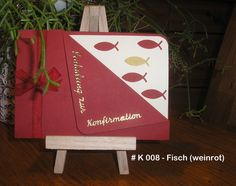 Einladungskarten - Einladung Karte FISCH Kommunion / Konfirmation - ein Designerstück von Bastelkoenigin-de bei DaWanda