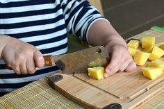 Otis 24 months using a cleaver