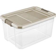 Sterilite 19 gallon stacker storage bins organize it for Garage totes 76