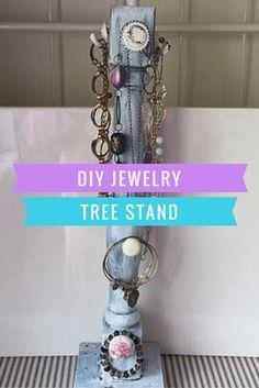 DIY Jewelry Tree Stand - Our Crafty Mom