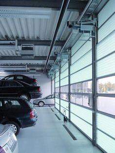 Las puertas seccionales apilables Spacelite HT de #Angelmir son seguras y fiables. De peso ligero, fabricadas con paneles de fibra de vidrio dobles proveen un excelente aislamiento térmico y una gran absorción de los impactos. Están preparadas para soportar climas extremos y son resistentes a la corrosión. Su alto grado de translucidez garantiza la iluminación en las áreas de trabajo, reduciendo el consumo energético durante el día #door #puertas Urban Furniture, Fiber, Doors, Extreme Weather, Architects, Insulation, Doubles Facts, Degree Of A Polynomial