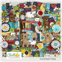 Good Night Teddy by Chelle's Creations, part of the July 2014 Scrap Pack...get this plus 4 other products for just $5! Click to get this fabulous deal! http://scrapstacks.com/scrappack/