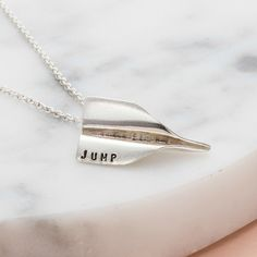 Our Personalised Paper Plane Necklace is a new favourite and we expect these gems to be flying out the door in no time! These playful pendants are handcrafted from the finest sterling silver, with the options for 9ct rose or yellow gold plating, and are available to personalise with up to 5 characters. A gorgeous gift idea or even a little treat to yourself.