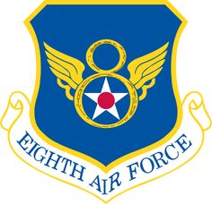File:Eighth Air Force - Emblem. Air Force Memes, Badges, Air Force Patches, Strategic Air Command, B 52 Stratofortress, Stealth Bomber, Airplane Art, Military Insignia, Les Themes