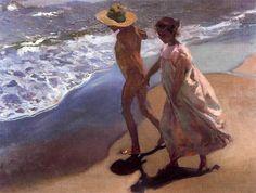 El Baño Del Caballo Joaquin Sorolla | El Bano Del Caballo 1909 Joaquin Sorolla Pintura Impresionista