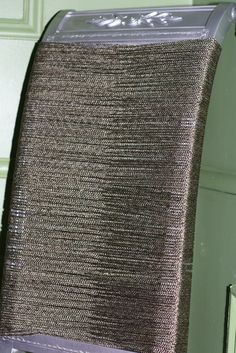Top Of Diy Dining Room Chair With Rope From Home Depot And Chrome Silver Spray Paint