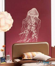 Vinyl Wall Decal Sticker JellyFish Deep Sea Ocean by Stickerbrand, $29.95