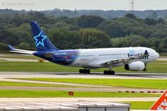 Air Transat A330-200 C-GTSN departing Manchester yesterday bound for Calgary