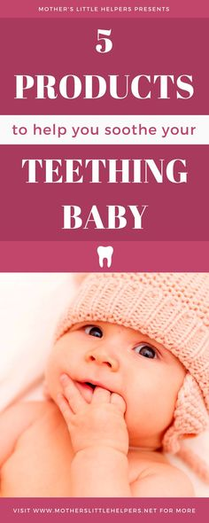 Is your baby not herself? Is she irritable, whiny, and just plain unhappy? It could all be due to teething pain and you don't know it. Here is a list of teething products that will help you soothe your little one. One of them isn't very well known and extremely effective.
