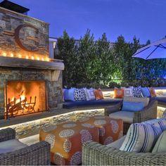 Outdoor fireplace... | Wicker Blog