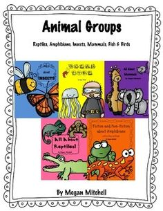 This is a bundle of 5 different individual units.  It is 165 pages of animal fun!  Perfect for teaching the animal groups and incorporating literature and writing.