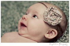 material flower headband